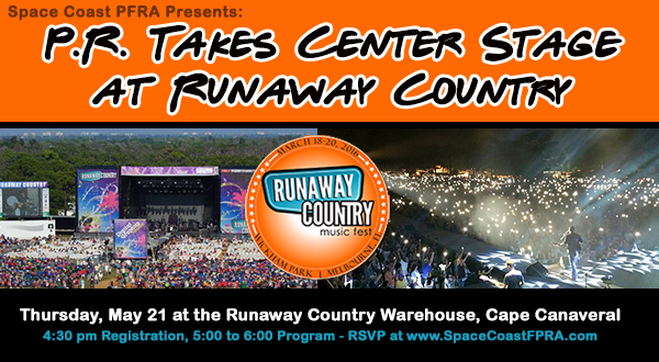 May 21, 2015:  P.R. Takes Center Stage at Runaway Country